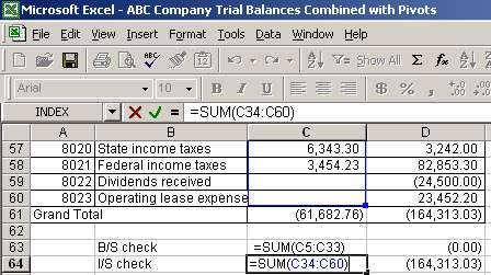income statement and balance sheet excel