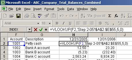 Excel Vlookup To Compare Trial Balances Function And